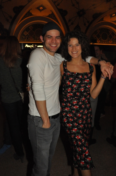 Jeremy Jordan and Cyrille Aimee