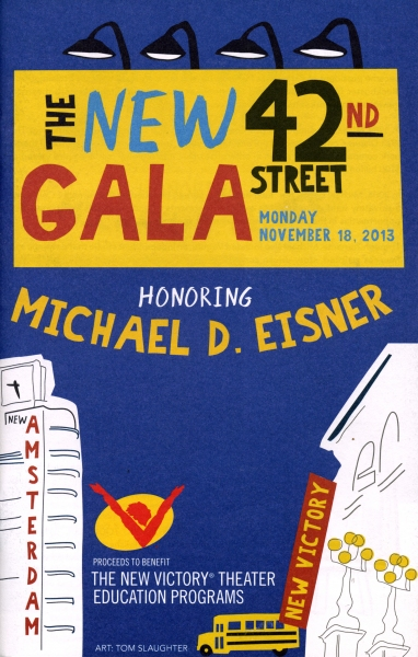 The New 42nd Street honors Michael D. Eisner at The New Victory Theatre in New York City on November 18, 2013.