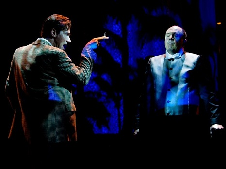 Jonathan Roxmouth and James Borthwick in SUNSET BOULEVARD