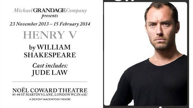 Jude Law Talks 'Wonderful' West End Return In Shakespeare's HENRY V