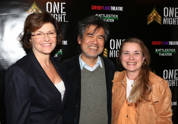 Angelina Fiordellisi, David Henry Hwang and wife Kathryn Layng