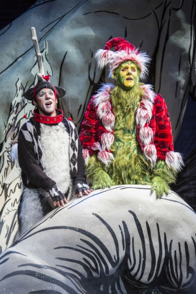 Jeffrey Schecter as Young Max and Steve Blanchard as The Grinch