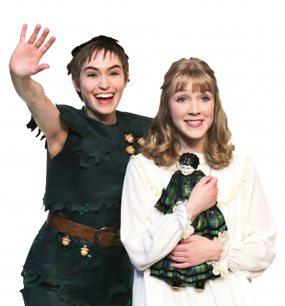 Samantha Arneson as Peter Pan and Meredith Toebben as Wendy