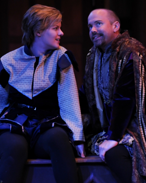 Maggie Lou Rader as Viola and Brent Vimtrup as Orsino