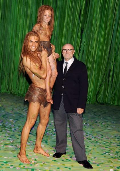 Mandatory Credit: Photo by Willi Schneider/Rex/REX USA (1825019i)Phil Collins, Matthis Lernhardt, Gian Marco Schiaretti''Tarzan'' the Musical Premiere, Stuggart, Germany - 21 Nov 2013