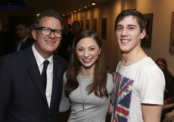 From left, Director/Choreographer Matthew Bourne and cast members Dominic North and Hannah Vassallo pose during the reception for the opening night performance of ''Matthew Bourne''s Sleeping Beauty'' at the Center Theatre Group/Ahmanson Theatre on Novemb
