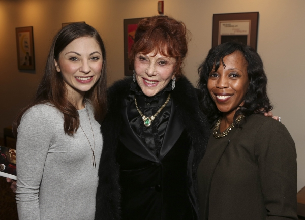 From left, cast member Hannah Vassallo, Glorya Kaufman and Renae Williams Niles, Music Center, pose during the reception for the opening night performance of ''Matthew Bourne''s Sleeping Beauty'' at the Center Theatre Group/Ahmanson Theatre on November 21