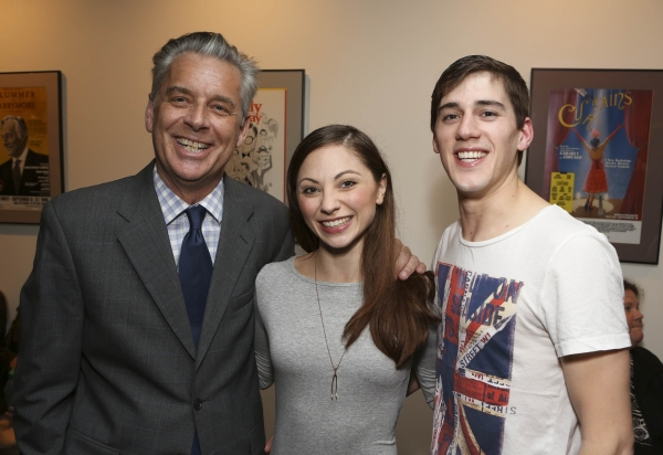 From left, CTG Artistic Director Michael Ritchie and cast members Dominic North and Hannah Vassallo pose during the reception for the opening night performance of ''Matthew Bourne''s Sleeping Beauty'' at the Center Theatre Group/Ahmanson Theatre on Novemb