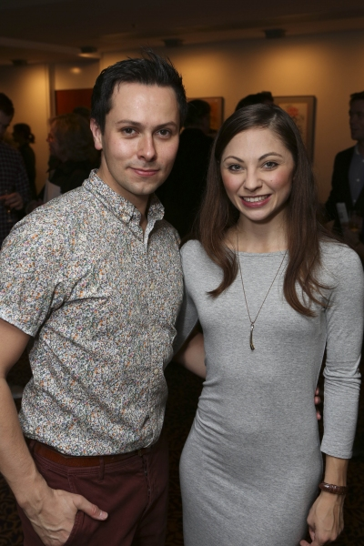 From left, cast members Christopher Marney and Hannah Vassallo pose during the reception for the opening night performance of ''Matthew Bourne''s Sleeping Beauty'' at the Center Theatre Group/Ahmanson Theatre on November 21, 2013, in Los Angeles, Calif. (