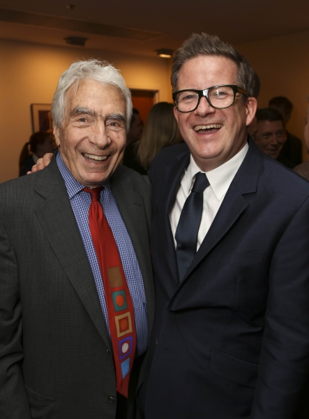 From left, CTG Founding Artistic Director Gordon Davidson and Director/Choreographer Matthew Bourne pose during the reception for the opening night performance of ''Matthew Bourne''s Sleeping Beauty'' at the Center Theatre Group/Ahmanson Theatre on Novemb
