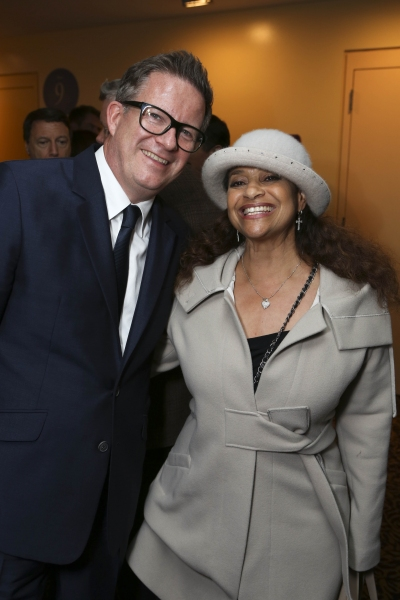 From left, Director/Choreographer Matthew Bourne and actress Debbie Allen pose during the reception for the opening night performance of ''Matthew Bourne''s Sleeping Beauty'' at the Center Theatre Group/Ahmanson Theatre on November 21, 2013, in Los Angele