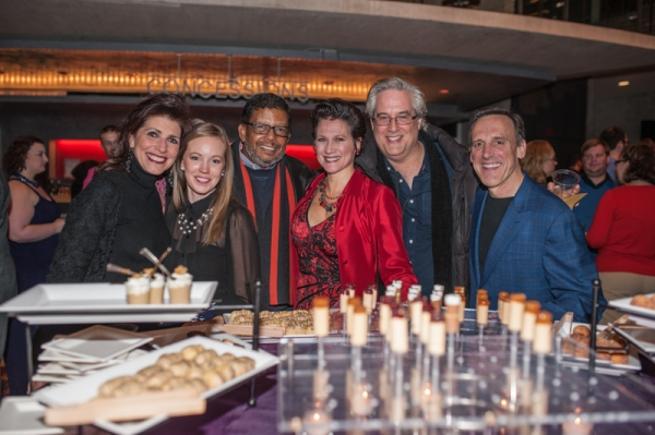 Cast members of Arena Stage's upcoming Guess Who's Coming to Dinner (Tess Malis Kincaid, Bethany Anne Lind, Eugene Lee, Valerie Leonard, Michael Russotto and Tom Key)