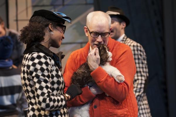 Ms. Nitpicker (Brynn Tucker) befriends Mr. Grumps (Michael John Casey) and Loretta the cat (Loretta)