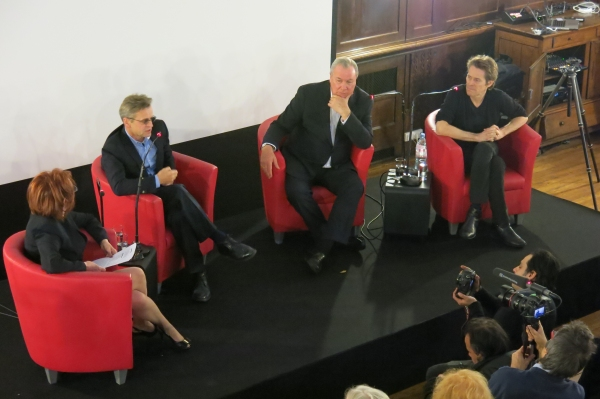 Arts Arena Talk Back Moderator, Mikhail Baryshnikov, Robert Wilson and Wiilam Dafoe