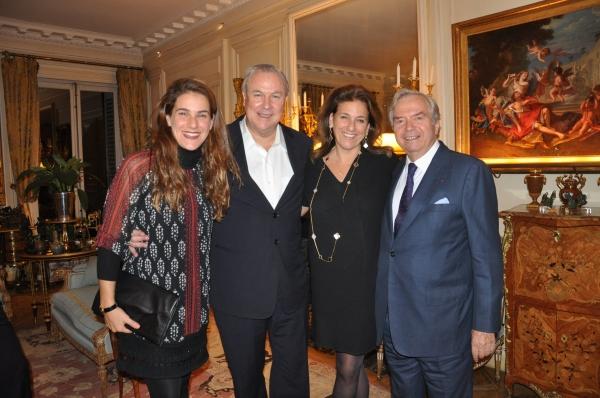 Artemis Baltoyanni, Robert Wilson, Madga Baltoyanni-Kallitsantsis and Xavier Guerrand-Hermes
