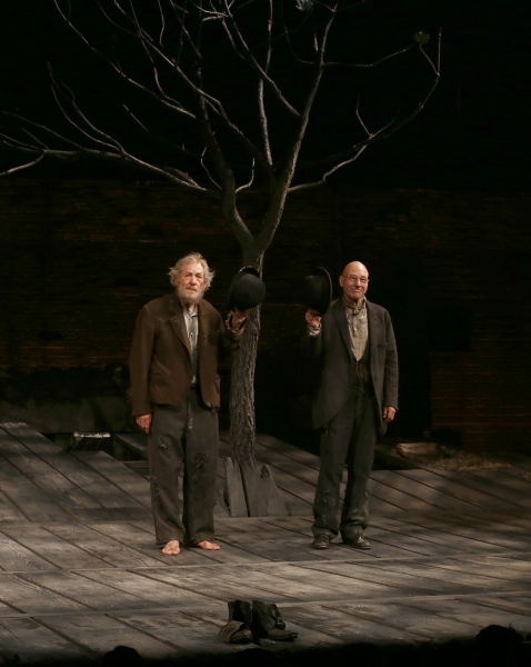 during the Broadway Opening Night Performance Curtain Call of ''Waiting For Godot''  Photo