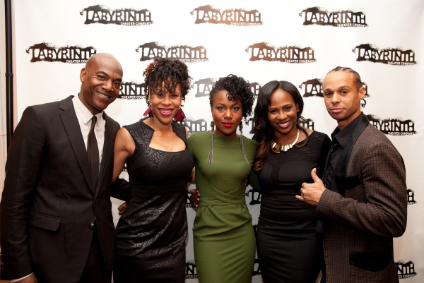 Cast member John Earl Jelks, Playwright Dominique Morriseau, cast member DeWanda Wise, director Kamilah Forbes, and cast member Harvey Gardner Moore