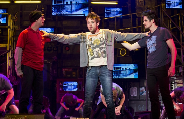 Dan Tracy (Tunny), Jared Nepute (Johnny) and Casey O'Farrell (Will) in AMERICAN IDIOT