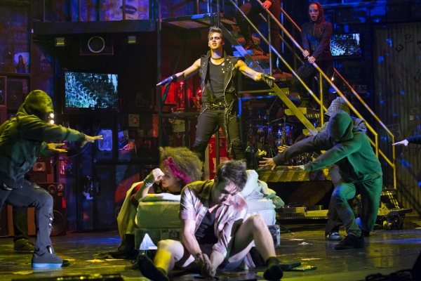Daniel C. Jackson (St. Jimmy), Olivia Puckett (Whatsername), Jared Nepute (Johnny) and the company of AMERICAN IDIOT
