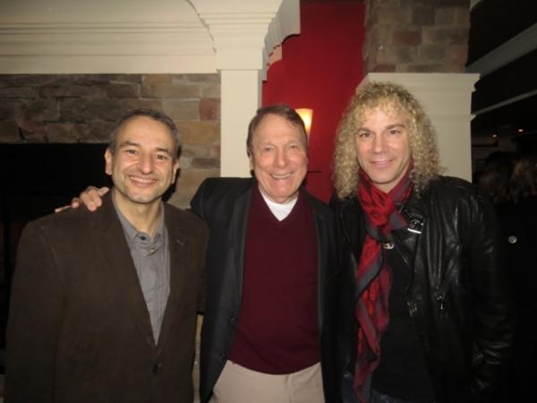 Playwright Joe DiPietro, actor Greg Mullavey and frequent DiPietro collaborator David Photo