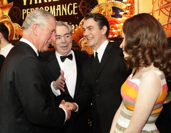 Prince Charles, Andrew Lloyd Webber, Alexander Hanson, Charlotte Spencer