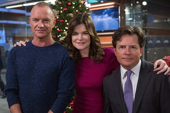 Sting, Betsy Brandt as Annie Henry, Michael J. Fox as Mike Henry