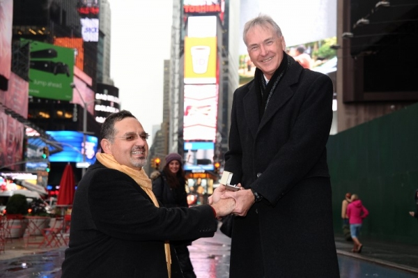 Photo Flash: Drama League Founding Supporters' Flash Mob Proposal in Times Square