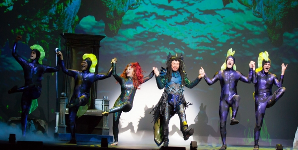 Jordan Clark, Ross Petty and the Cast of THE LITTLE MERMAID