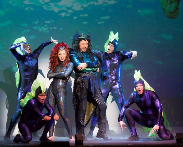 Jordan Clark, Ross Petty and the Cast of THE LITTLE MERMAID Photo
