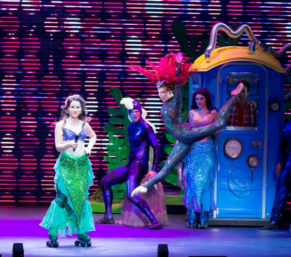 Chilina Kennedy, Jordan Clark and the Cast of THE LITTLE MERMAID
