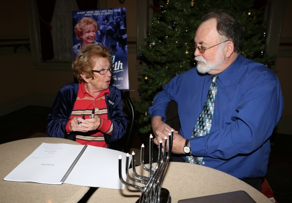 Dr. Ruth K. Westheimer with Playwright Mark St. Germain  Photo