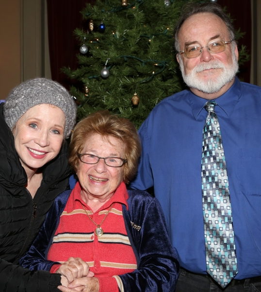 Debra Jo Rupp and Dr. Ruth K. Westheimer with Playwright Mark St. Germain