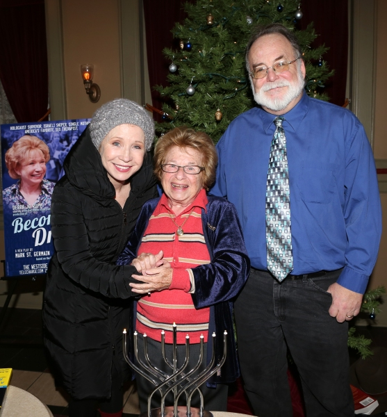 Debra Jo Rupp and Dr. Ruth K. Westheimer with Playwright Mark St. Germain  Photo
