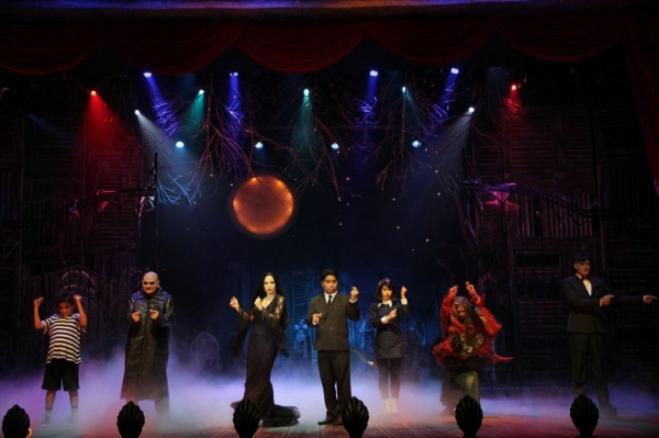 The principal cast of Atlantis Productions'' THE ADDAMS FAMILY