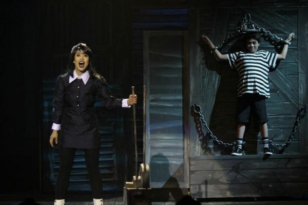 K-La Rivera as Wednesday, Anton Posadas as Pugsley Photo