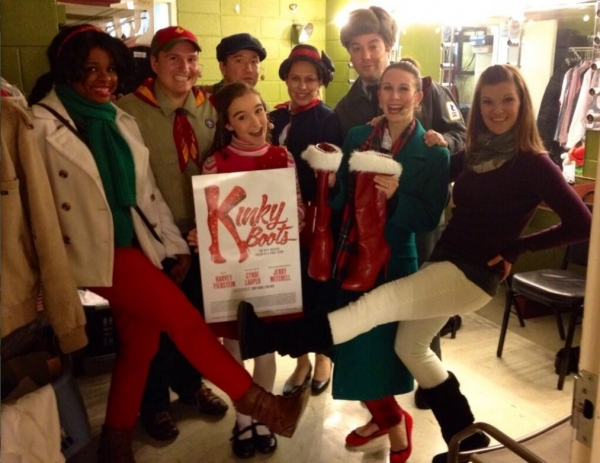 Photo Flash: Saturday Intermission Pics, Nov 30 - KINKY BOOTS, THE FANTASTICKS, 'HAPPY FELLA' and More Celebrate Turkey Day!