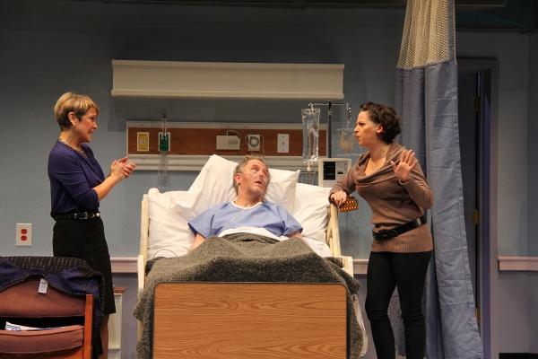 Naomi Jacobson (Rita), John Lescault (Ben), and Kimberly Gilbert (Lisa) Photo