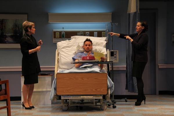 Naomi Jacobson (Rita), Marcus Kyd (Curtis), and Kimberly Gilbert (Lisa)