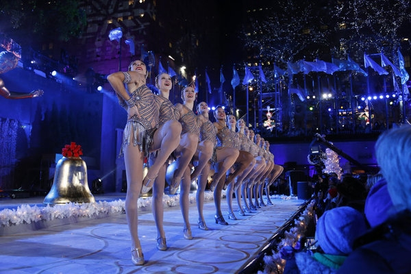 CHRISTMAS IN ROCKEFELLER CENTER -- Pictured: The Rockettes -- (Photo by: Heidi Gutman/NBC)