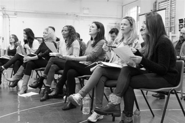 Photo Flash: In Rehearsal with DOCTOR WHO's Matt Smith & More for AMERICAN PSYCHO