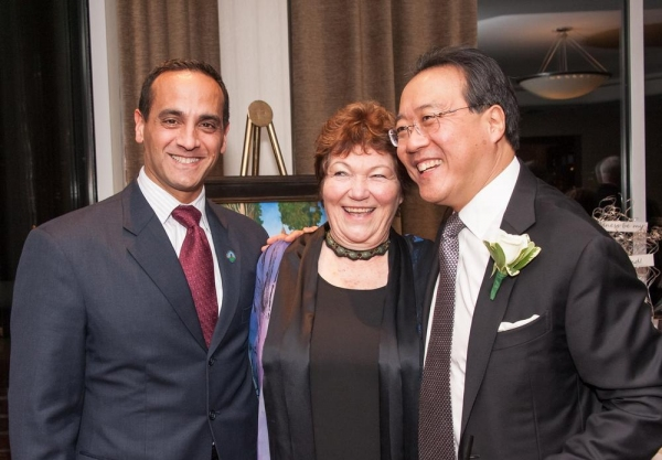 Somerville Mayor Joseph A. Curtatone, Tina Packer, and Yo-Yo Ma