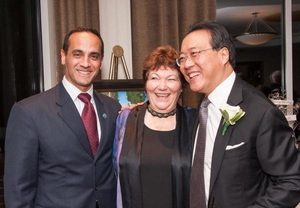 Somerville Mayor Joseph A. Curtatone, Tina Packer, and Yo-Yo Ma Photo