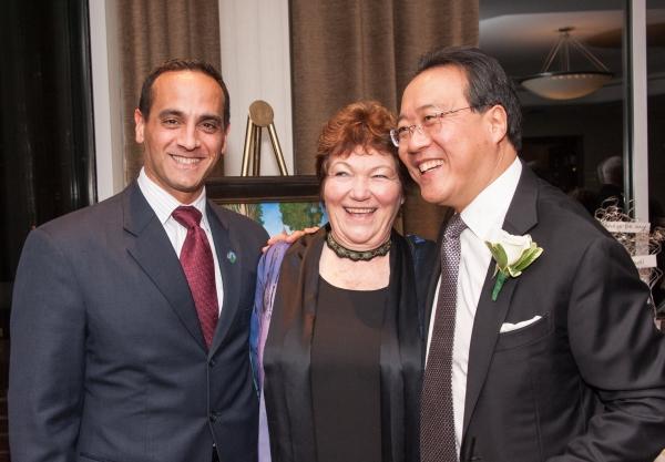 Somerville Mayor Joseph A. Curtatone, Tina Packer, and Yo-Yo Ma