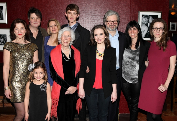Edie Falco, Christopher Evan Welch, Heidi Schreck, Frances Sternhagen, Seth Clayton, Phoebe Strole, John Ellison Conlee, Leigh Silverman & Liz Fahive attending the Opening Night After Party for the Manhattan Theatre Club''s Production of  ''The Madrid'' a