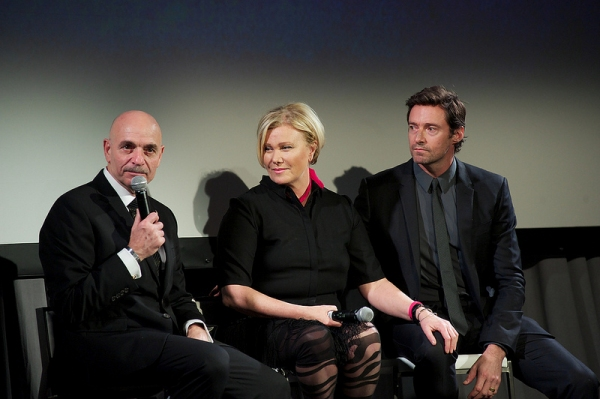 FDNY commissioner Salvatore Cassano, Deborra-Lee Furness and Hugh Jackman