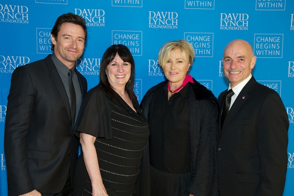 Hugh Jackman, Theresa Cassano, Deborra-Lee Furness and FDNY Commissioner Salvatore Cassano