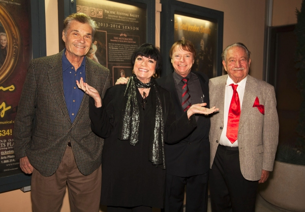 Fred Willard, JoAnne Worley, Jay Johnson and Milt Larsen
