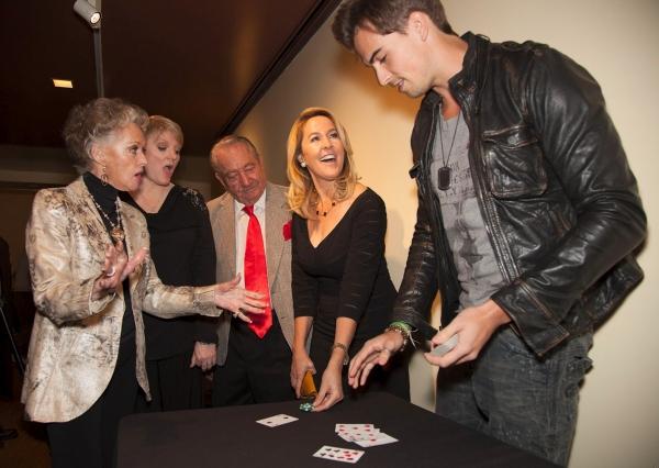Tippi Hedren, Alison Arngrim, Milt Larsen and Erin Murphy enjoy close up talent of Rich Manley