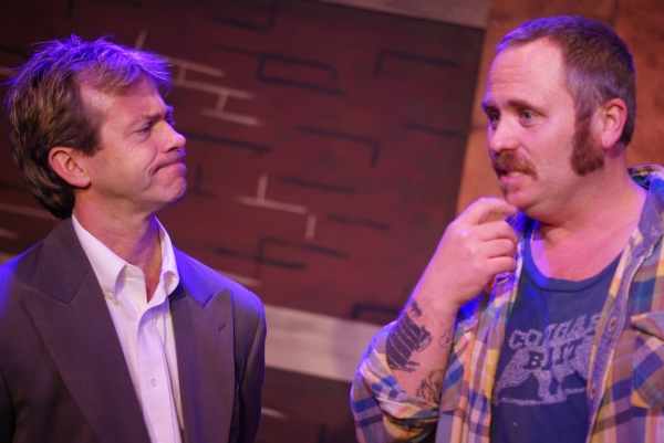 Stephen Woosley as Mr. Rondo, left to right, John Kuhn as Foreman