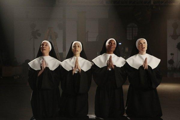 Jessica Molasky as Sister Berthe, Elena Shaddow as Sister Sophia, Audra McDonald as Mother Abbess, Christiane Noll as Sister Margaretta